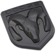 Эмблема Додж 85x80 мм (пластик, черн) капот / багажник