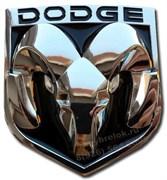 Эмблема Додж 85x80 мм (металл, хром) капот / багажник