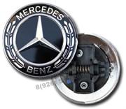 Эмблема Мерседес Benz на капот / 55 мм