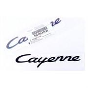 Эмблема Порше Cayenne хром (багажник)
