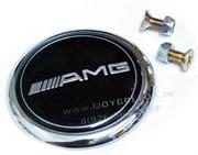 Эмблема Мерседес AMG на капот / 62 мм