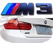 Эмблема БМВ M3 багажник (черн.металл)