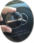 Эмблема Мерседес AMG в руль на 3М скотче (52 мм)