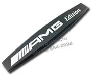 Эмблема Мерседес AMG крыло черн.