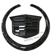 Эмблема Кадиллак 11 см багажник - черная