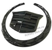 Эмблема Кадиллак 16 см капот / багажник - черная