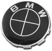 Колпачки в диск БМВ (65/68 мм) черно-черные / (кат.36136783536)