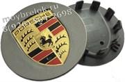 Колпачки в диск Порше Макан 65/50 мм графит (реплика)