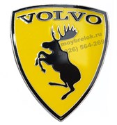 Эмблема Volvo лось, силиконовая наклейка на кузов