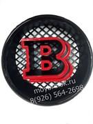Эмблема Brabus на решетку радиатора Мерседес Хром - красный
