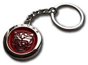 Брелок Ягуар для ключей круглый красный