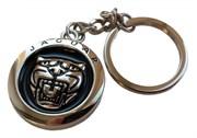 Брелок Ягуар для ключей круглый черный