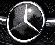 Эмблема Мерседес на решетку радиатора звезда / стекло