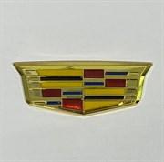 эмблема Кадиллак 95*35мм крыло золото