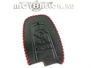 Чехол для смарт ключа Форд Ranger кожаный 4 кнопки, черный